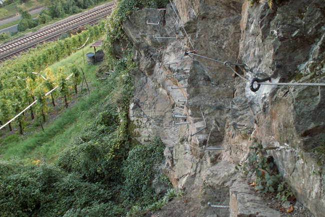 Klettersteig Rheinsteig Boppard : Abenteuer mittelrhein klettersteig boppard outdoorsucht